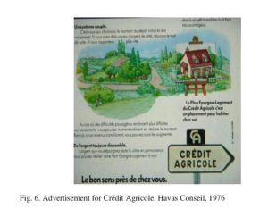 Fig. 6. Advertisement for Crédit Agricole, Havas Conseil, 1976