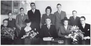 De familie Bredero in 1946 ter gelegenheid van het 25-jarig jubileum van zowel het bedrijf als van Adriaan Bredero
