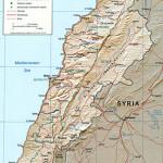 Kaart Libanon-Syrië