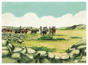 Abraham met nomaden -