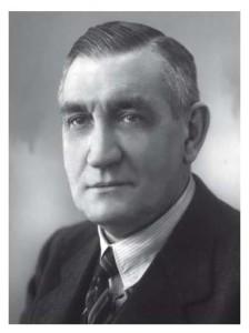 Adriaan Bredero in zijn hoogtijdagen als directeur van Bredero's Bouw Bedrijf in de jaren dertig