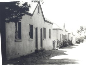 Municipal cottages in the area now known as Pinehaven, where the Lawrence family had lived before they were forced to move from the area. Photo courtesy of the Simon's Town Museum.