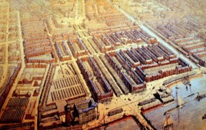 A bird's eye view of the new Plan Zuid as drawn by Berlage
