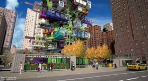 Hive-Inn City Farm Vegetable stand in New York City, By http://www.ovastudio.com
