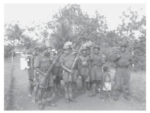 Politie-escorte en dragers