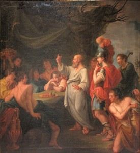Socrates teaching the humanities