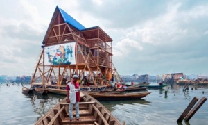 Groundbreaking ... Kunlé Adeyemi's floating school in Makoko, Lagos, Nigeria