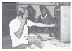 Radiocontact met de 'buitenwereld'