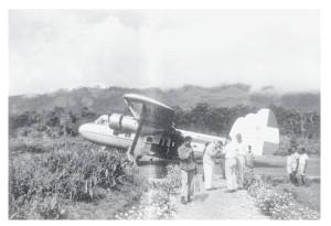 De eerste landing van de Twin Pioneer