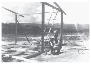 De bouw van het hoofdkwartier voor de expeditieleiding