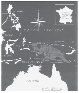 Routekaart van de Frans-Nederlandse filmexpeditie