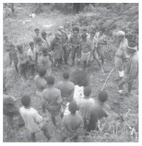 De begrafenis van Frans Kambon
