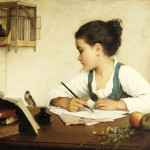 Henriette-Browne-A-Girl-Writing