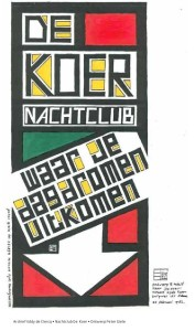 Archief Eddy de Clercq • Nachtclub De Koer • Ontwerp Peter Giele