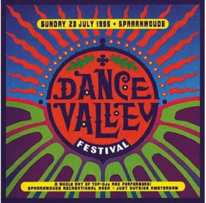 Ontwerp Donald Beekman BOXL Studio. Flyer eerste Dance Valley 1995