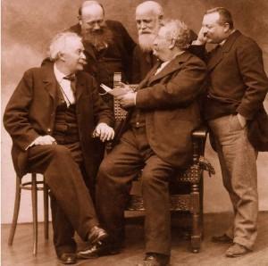 FOTO Archief Chass Vermeulen Windsant • v.l.n.r. Nadar, Luminiere , Mariani, Sylvestre en Bonguinon