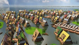 An artist's impression of what the Makoko water settlement could look like(Photo from NLÈ website)