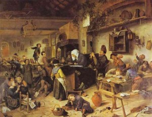 Jan Steen  - The Village School