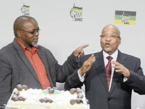 INDEPENDENT MEDIA ANC president Jacob Zuma shares a joke with party secretary-general Gwede Mantashe.The writer claims many people join the ruling party not because of ideological belief but to have material advantage. File picture: Paballo Thekiso