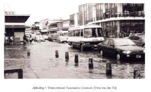 Afbeelding 1: Wateroverlast Paramaribo-Centrum (Yvon van der Pijl)