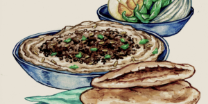 The Art Of Cooking ~ Hummus With Minced Meat