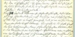 De eerste vier pagina's van het dagboek van Paula Bermann - Kurrentschrift