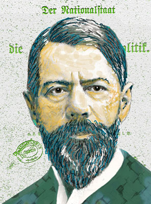 Max Weber - Illustration by Ingrid Bouws